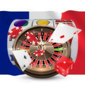 drapeau france roulette cartes dés jetons machine à sous